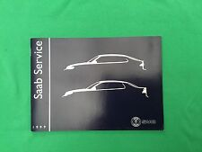 Genuine Saab Service Book. Covers All 1999 Models Unused Brand New