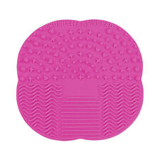 Silicone Makeup Brush Cleaner Cleaning Cosmetic Scrubber Board Mat Pad Hand Tool Hot Pink-small