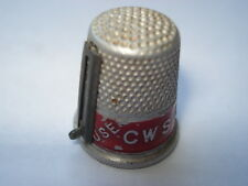 C1930S VINTAGE USE C.W.S.CONGRESS SOAP ADVERTISING THIMBLE WITH THREAD CUTTER
