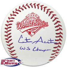 Cito Gaston Blue Jays Signed Autographed 1992 World Series Baseball JSA Auth