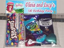 12 Birthday Party Lolly Loot Bags Personalised With Strawberry Shortcake Print