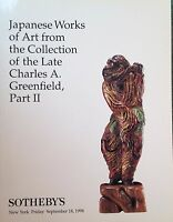 Sotheby's Catalog JAPANESE WORKS OF ART Greenfield Collection Part II NY