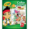 #A1 Crayola Jake and The Neverland Pirates Color 'n Sticker Books NEW
