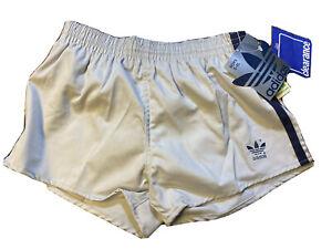 Vintage 70s Adidas Trefoil Boys Youth XL 28-30 Grey Running Shorts Nylon NWT