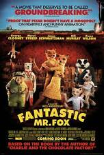 FANTASTIC MR. FOX Movie POSTER 27x40 B George Clooney Meryl Streep Willem Dafoe