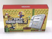Nintendo 2DS Console New Super Mario Bros 2 Pre-Installed Limited Edition ~NIB~