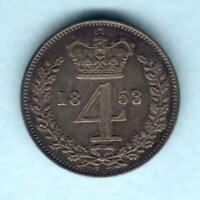 Great Britain.   1853 Victoria - Fourpence..  gVF