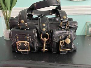 Authentic Leather Coach Handbag Black