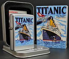Zippo TITANIC (Farbdruck, Chrom satiniert), Rarität von 2000