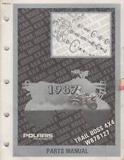 1987 POLARIS ATV TRAIL BOSS 4X4, W878127  PARTS MANUAL P/N 9911352 (929)