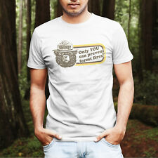 Smokey the Bear Only You Can Prevent Forest Fire T-Shirt Vintage Style Tee Shirt