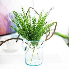 5 pcs Green Artificial Fern Bouquet Silk Plants Fake Leaves Foliage Home Decor