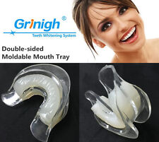 2 Dual Moldable Teeth Whitening Quality Mouth Trays + Silicone Mouth Molding US