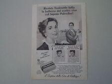 advertising Pubblicità 1958 SAPONE PALMOLIVE