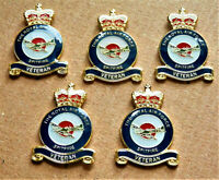 5 x MILITARY ENAMEL PIN BADGE RAF *SPITFIRE* VETERAN REMEMBRANCE ARMY BADGE