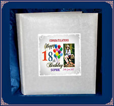 18th  Birthday tissue interleaved album personalised gift  with Photo  7