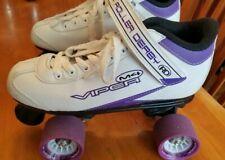 Womens Viper M4 Roller Derby Roller Skates Size 7 Adult Purple White