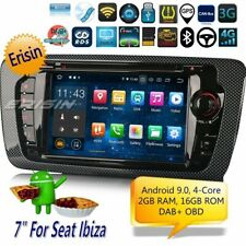 "Navigatore Android 9.0 Seat Ibiza DAB+Autoradio OBD Bluetooth Volante MP5 7""4822"