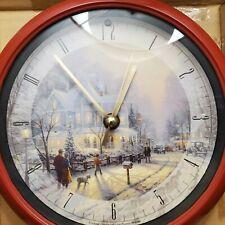 New ListingThomas Kinkade Christmas Carol Musical Wall Clock