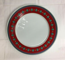 "HUTSCHENREUTHER ""CAMAO ROSSO"" RED SERVICE PLATE 12 5/8""  PORCELAIN NEW GERMANY"