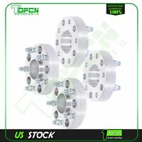 """4X Silver Wheel Spacers 5x5.5 to 5x5.5 14x1.5 studs 1.5"""" For Ram 1500 2012-2017"""