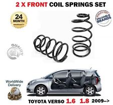FOR TOYOTA VERSO 1.6 1.8 MPV 2009 >NEW 2x FRONT LEFT RIGHT COIL SPRINGS SET