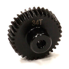 INTEGY RC Car T5005 Billet Machined 34T Steel Pinion Gear for HPI Savage XS Flux