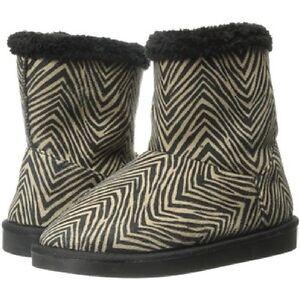 Vera Bradley Fluffy Zebra Print Boots Size M 7/8