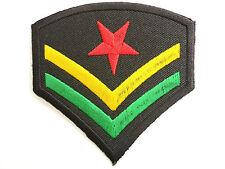 Rasta Army Cprl Reggae Star Selassie Embroider Iron On Shirt Jacket Badge Patch