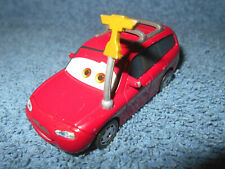 "DISNEY PIXAR CARS RED STATION WAGON KIT REVSTER RACE FAN 3"" DIECAST CAR - NICE"