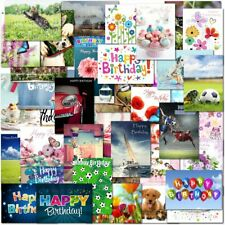 Pack of 30 Mixed Male Female Boys Girls Family Birthday Premium Greeting Cards