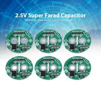 6Pcs/Set Super Farad Capacitor 2.5V With Protection Board Module Limit Plate