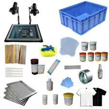 4 Color Screen Printing Materials Kit W/ Exposure unit & Shirt Press Ink Tools