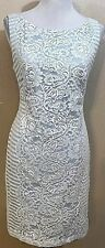 Women's Silver & White Striped Lace Dress by Jessica Simpson (03901)