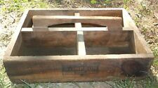 Antique Vintage Wood Crate Box : Edwin B. Stimpson Co. Brooklyn New York