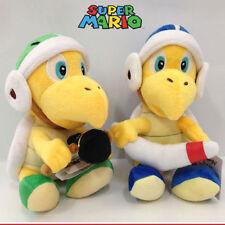 "2X New Super Mario Bros. Boomerang & Hammer Bro. Plush Soft Toy Doll Teddy 8"""