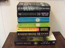 Lot of 7 KATHY REICHS - Mysteries - Temperance Brennan BONES - pbs