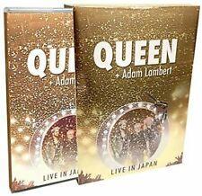 Queen Adam Lambert Vivir En Japón 2014 Blu-Ray + CD Juego Espejo Abrigo Funda