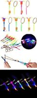 Rocket Copters - Slingshot LED Helicopter Toy for Kids Free S/H