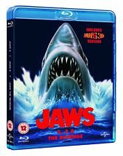 Jaws 2 + Jaws 3 in 3D + The Revenge (Blu-ray, 3 Discs, Region Free) *NEW*
