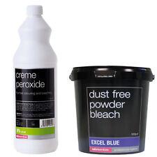 Salon Services Hair Creme Peroxide 9% 30 VOL 1 Litre With Blue Powder Bleach