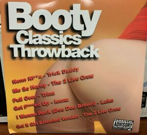 BOOTY CLASSICS THROWBACK  (2) LP 2004 LIL JOE XR-299  2 LIVE CREW DJ PROMO NEW