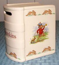 Royal Doulton Eng Bunnykins Smelling Flowers & Bugler Donkey Savings Book Bank