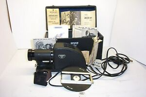 1940's ARGUS C-3 SLIDE PROJECTOR IN CASE WITH LOTS OF PAPERS