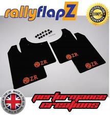 Rally Mudflaps ROVER MG ZR  Mud Flaps RallyflapZ Black with Logo Orange 4mm PVC