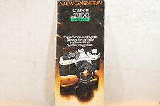 Canon FD AE-1 Program Camera Dealers brochure