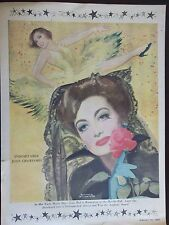 1951 Joan Crawford Acknowledgement Advertisement William Rose Illustration