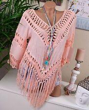 Damenblusen,-Tops & -Shirts im Tuniken-Stil mit V-Ausschnitt und Baumwolle ohne Muster