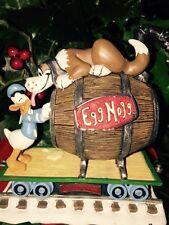 DIsney Donald Duck Peter Pan Dog Nana Christmas Train Village Figure Statue RARE