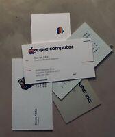5 Apple Steve Jobs ID Business Cards (Apple II - Macintosh - Next - Pixar )